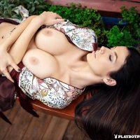 Katey busty Playboy brunette Mellow Moments